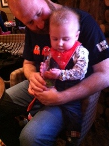 Baby in the pub