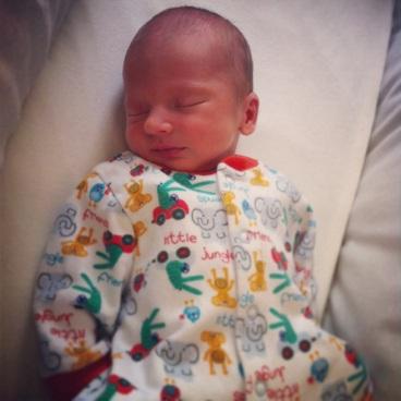 Newborn sleeping baby