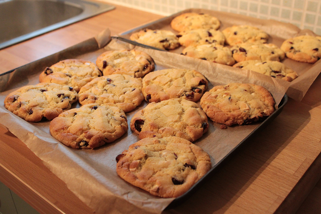 cookie recipe. It's adapted from this white chocolate and raspberry ...