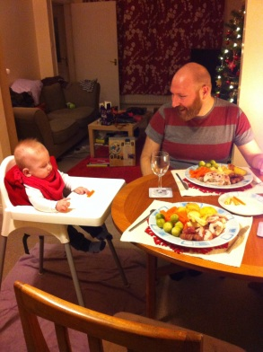 Christmas dinner with baby